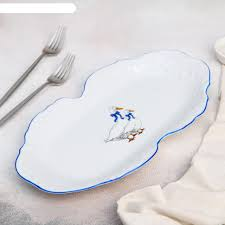 Блюдо прямоугольное 36х18 см <b>Рококо</b>. <b>Гуси</b> купить по цене 1 ...
