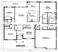 Raised Bungalow House Plans  CANADIAN HOME DESIGNS Custom House    Floor plans on Pinterest Bungalow House Plans  Home Plans and House