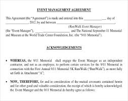 free pdf format event management agreement template event planning contract templates