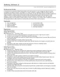 professional safety representative templates to showcase your resume templates safety representative