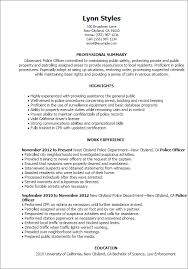 professional police officer templates to showcase your talent    resume templates  police officer