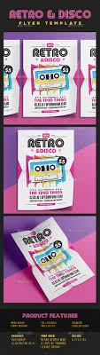 retro disco flyer party pops radios and flyer template retro disco flyer template psd vector ai design