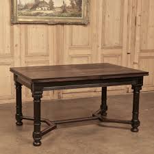 elegant square black mahogany dining table: th century neoclassical draw leaf dining table