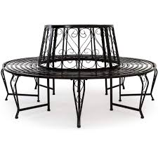 Deuba <b>Tree Seat bench</b> made of powder coated steel Garden ...