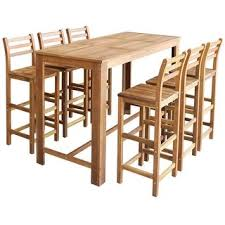Shop vidaXL Bar Table and Chair Set <b>7 Pieces Solid Acacia</b> Wood ...