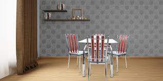dining sets seater: crimson steel  seater dining table set by disegno in hyderabad price starting at