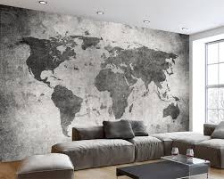 <b>Beibehang Custom wallpaper European</b> retro nostalgia world map ...