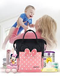 <b>Disney</b> Minnie Fashion Mother Bag Large Capacity <b>USB Heater</b> ...