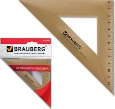<b>Треугольник пластиковый</b>, <b>угол 45</b>, 16,5 см, Brauberg ...