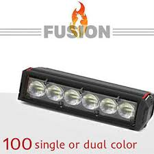 new feniex fusion 49 dual color exterior led light bar brand new new feniex fusion 100 dual color super led stick bar light