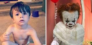 Мальчик в <b>костюме</b> клоуна Пеннивайза из фильма «<b>Оно</b>» | <b>Оно</b> ...