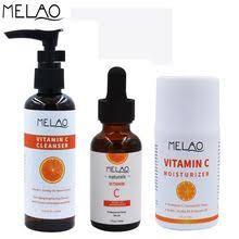 MELAO Vitamin C Skin Care Sets 100ml <b>Facial</b> Cleanser <b>30ml Face</b> ...