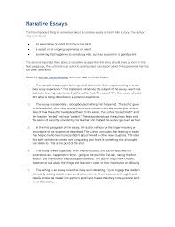 a narritive essay sample narrative essay template