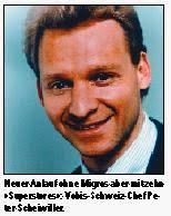Jetzt nimmt der Vobis-Schweiz-Chef Peter Scheiwiller einen neuen Anlauf. Mittelfristiges Ziel ist ein Börsengang. Vobis Schweiz: «Superstores» und Internet - allebildera531