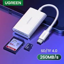 <b>UGREEN</b> USB <b>Type C Card</b> Reader SD TF Micro SD 4.0 UHS II ...