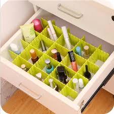 4pcs <b>Adjustable</b> Stretch Plastic Drawer Divider <b>Organizer Storage</b> ...