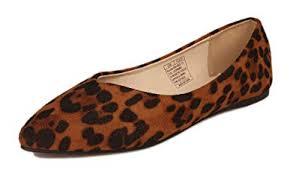 Kunsto <b>Women's Fashion</b> Casual <b>Pointed</b> Toe Ballet Flats <b>Shoes</b>