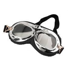 <b>New</b> Anti UV <b>Vintage Motorcycle Goggles</b> Pilot Biker Helmet ...