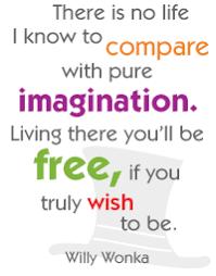 Willy Wonka Quotes Imagination. QuotesGram via Relatably.com