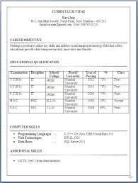 resume format for it freshers bsc it resume format for freshers formats for resumes