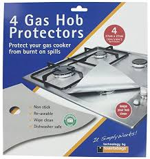 Universal <b>Gas Hob Protector</b> Sheet, Pack of 4, Silver: Amazon.co.uk ...