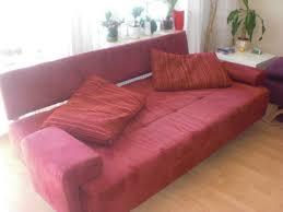 Rote ausziehbare Couch /Schlafcouch /Sofa /Schlafsofa, Weinheim ... - 123497