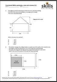 Functional Maths - measures, shape, money | Skills Workshop10 very useful multiple choice, topic-based Functional Maths questions. The focus is on perimeter and area but there is one volume question.