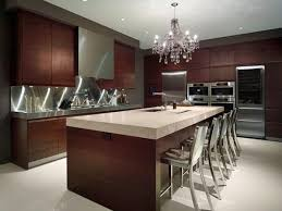 hanging kitchen lights and over large plywood veneered f island feat brown walnut varnished cabinets systems ashbury kitchen lighting