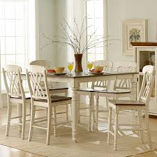 cherry counter height piece: weston home ohana  piece square counter height set antique white amp cherry dining table sets at hayneedle