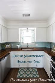Water Resistant Kitchen Cabinets Fishermans Wife Furniture Waterproofing Under The Sink