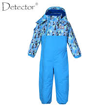 Online Shop Detector Boy Girl <b>Ski</b> Suit <b>Waterproof Windproof</b> ...
