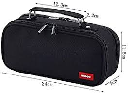 LEEYYO Grey Large Capacity <b>Pencil Bag First Aid</b> Kit Cosmetic Bag ...