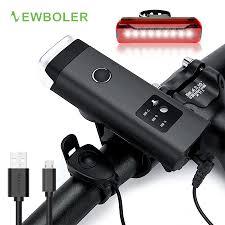 NEWBOLER 350 Lumens Bicycle Light With Horn USB ...