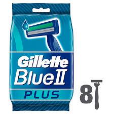 <b>Gillette Blue II</b> Plus Disposable Razors – 8 <b>Pack</b>   Chemist 4 U
