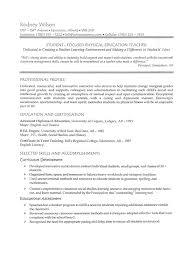 teaching job resume sample