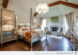 dallas transitional added drama mirrored bedroom furniture