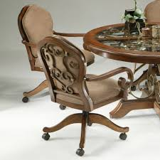 casual dining chairs with casters:  brown varnished mahogany dining chair with velvet upholstered staples office chairs astonishing kitchen