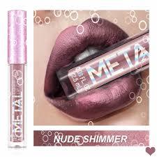 <b>Sexy</b> Invidia NUDE SHIMMER <b>6 Color</b> Long Lasting Waterproof <b>Lip</b> ...