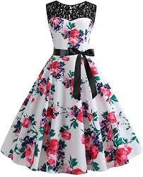 Uscharm <b>Womens</b> Dress <b>Vintage</b> 1950s <b>Retro</b> Sleeveless <b>Lace</b>