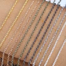 <b>5m</b>/<b>lot</b> Dia 1mm Gold Silver Color <b>Link Chains</b> Bulk Iron <b>Metal</b> ...