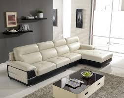 living room brilliant living room furniture for new home interior decors featuring cream and black genuine leather upholstered sectional sofa with cool brilliant living room furniture designs living