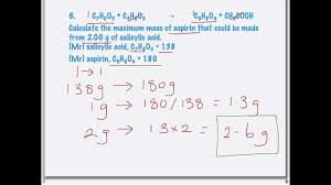 calculations of reacting masses from chemical equations calculations of reacting masses from chemical equations