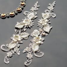 <b>1 piece Ivory</b> Beaded Bridal <b>Applique</b>, bridal headpiece <b>applique</b> ...