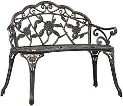 Festnight <b>Bistro Bench</b>, 2-Seat Park <b>Bench</b> for Outdoor Garden Patio ...