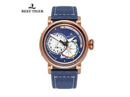 <b>Reef Tiger</b> Pilot Watches for Men Blue Dial <b>Military Watches</b> ...