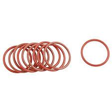 <b>uxcell 10 Pcs</b> 28mm OD 2mm Thickness Dark Red <b>Silicone O Rings</b> ...