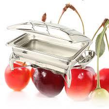 GNPan Chafing Dish <b>Stainless</b> Steel Rectanglar Chafer 9L Pan ...