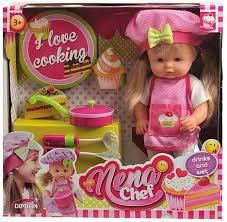 SALE* <b>Dimian</b> Baby <b>Nena</b> BD387 <b>Кукла</b> шеф-повар, 36см ...