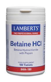 <b>Бетаин</b> HCl с <b>пепсином</b> - Lamberts Eesti