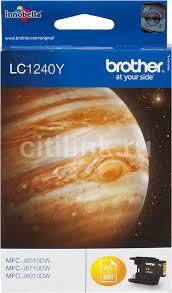 Купить <b>Картридж BROTHER LC1240Y</b>, желтый в интернет ...